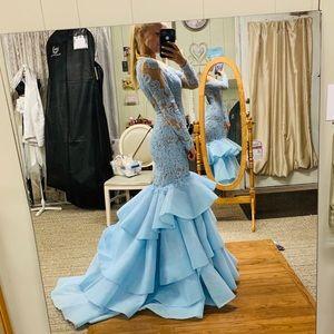 da987af7b01 Women s Sherri Hill Light Blue Prom Dress on Poshmark